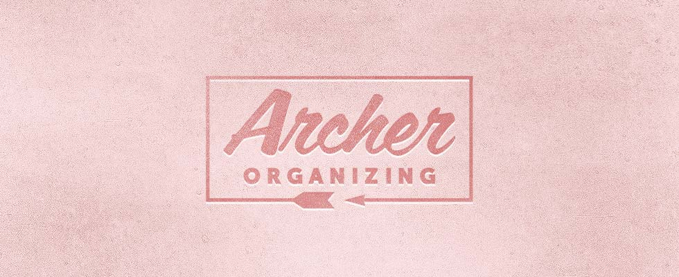 Archer Organizing logo and business card designs