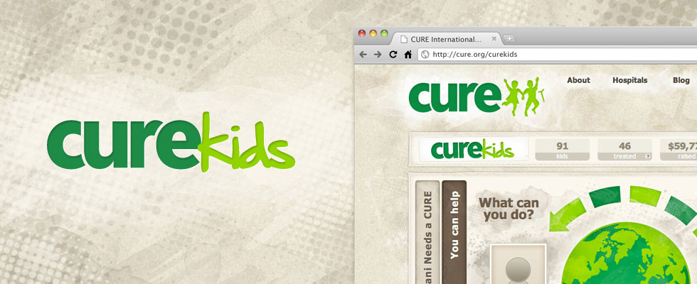 CUREkids logo and web interface