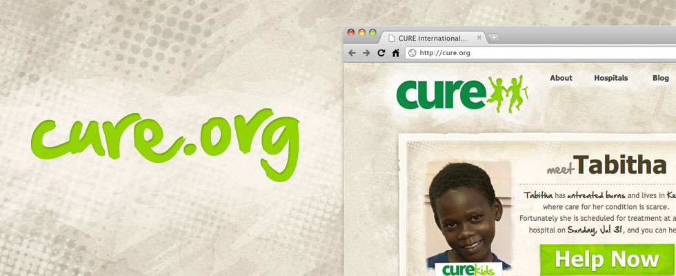 CURE.org web site design