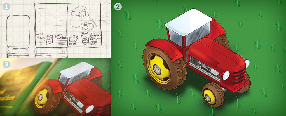 Isometric Tractor Illustration