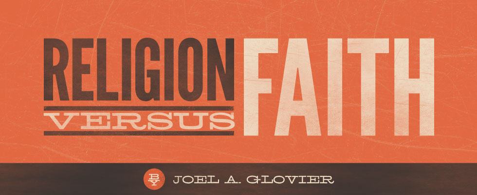 Religion vs Faith book logo