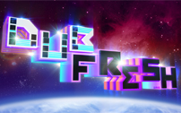 Dubfresh font 3D illustration wallpaper
